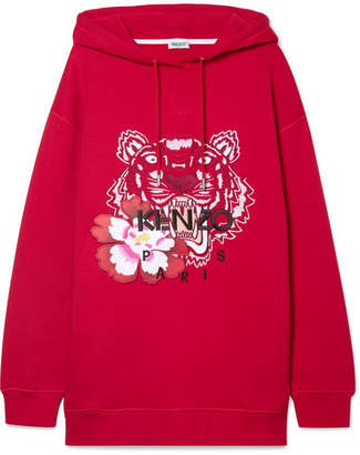 Kenzo Embroidered Cotton-jersey Hoodie - large