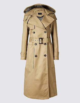 M&S Collection Cotton Rich Trench Coat