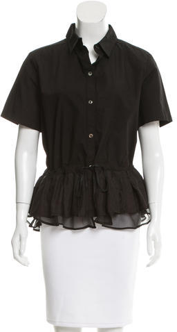 Clu Clu Short Sleeve Ruffle Top