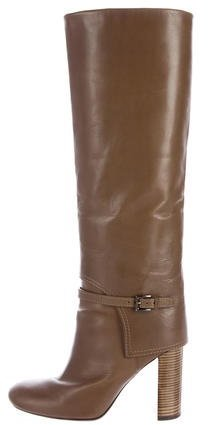 Tory Burch Tory Burch Round-Toe Knee-High Boots