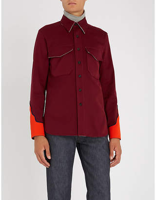 Calvin Klein Colour-blocked Western regular-fit cotton-twill shirt