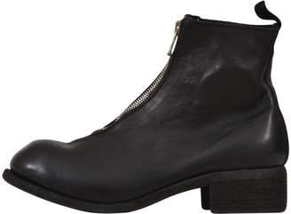 Guidi Zipper Combat Boots Black