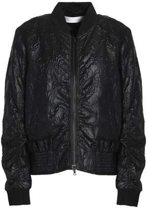 Victoria Beckham Victoria Shirred Embroidered Faille Bomber Jacket