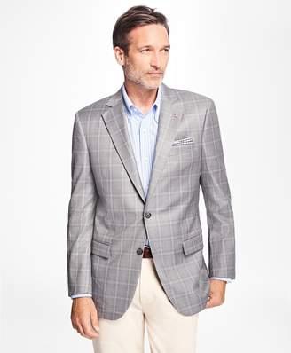 Brooks Brothers Madison Fit Saxxon Wool Overcheck Sport Coat