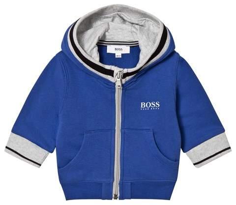 Blue Branded Hoodie