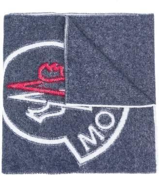 Moncler oversized logo scarf