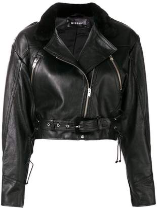 Misbhv cropped biker jacket