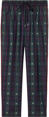 Gucci Check bees wool ankle pants