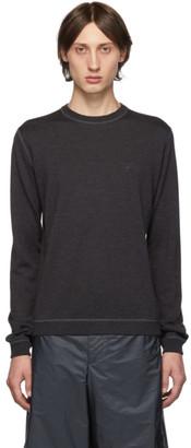 Prada Grey Wool Crewneck Sweater