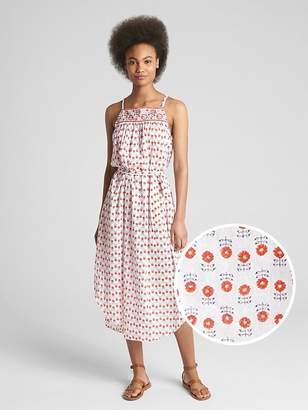 Gap Block-Print Cami Midi Dress