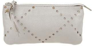 Linea Pelle Leather Zip Clutch