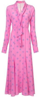 Natasha Zinko flared polka-dot dress