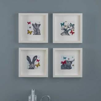 Gillian Kyle Gift & Home Set Of Four Scottish Animals Mini Prints