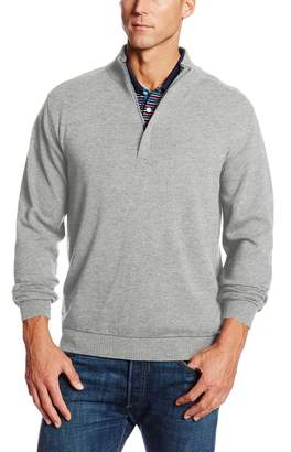 Cutter & Buck Men's Big-Tall Broadview Half Zip Sweater