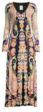 Etro Jersey Paisley Long Sleeve Dress
