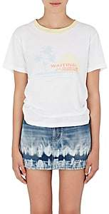 Saint Laurent Women's Sunset-Print Cotton T-Shirt - Natural