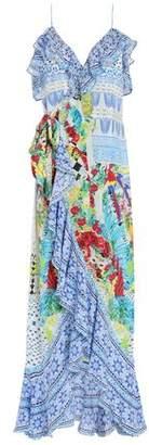 Camilla Embellished Ruffled Printed Silk Crepe De Chine Midi Dress