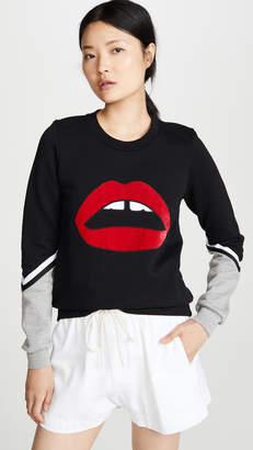 Markus Lupfer Tasmin Velvet Lip Sweatshirt