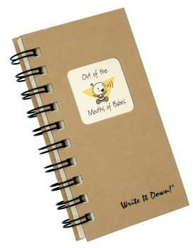 Journals Unlimited Out of the Mouths of Babes - MINI Kraft Brown Hard Cover (prompts on every page, recycled paper, read more...)