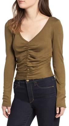 BP Ruched Front Tee (Regular & Plus Size)