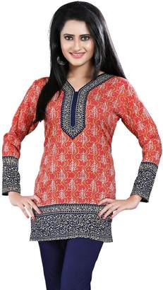 76e8aa32afb9b Maple Clothing India Long Tunic Top Kurti Womens Printed Indian Apparel (