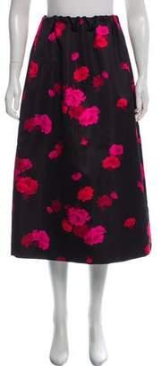 No.21 No. 21 Floral Print Midi Skirt