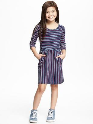 Striped Jersey Fit & Flare Dress for Girls $19.94 thestylecure.com