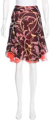 Temperley London Knee-Length Silk Skirt
