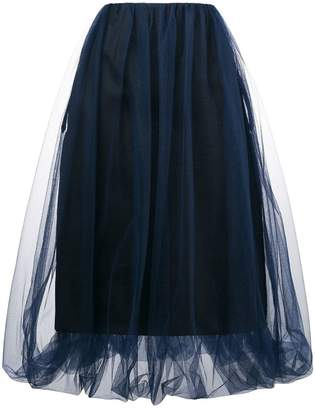 Comme des Garcons tulle layer midi skirt