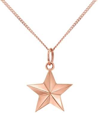 True Rocks - Large Star Necklace Rose Gold