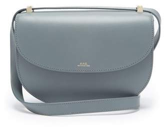 A.P.C. Geneve Cross Body Leather Bag - Womens - Blue