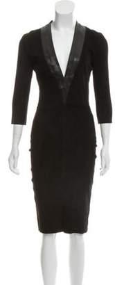 Jitrois Suede Midi Dress w/ Tags Black Suede Midi Dress w/ Tags