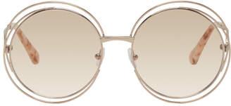 Chloé Rose Gold Carlina Round Glasses