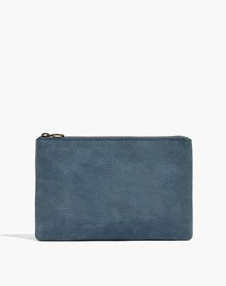Madewell The Leather Pouch Clutch in Nubuck