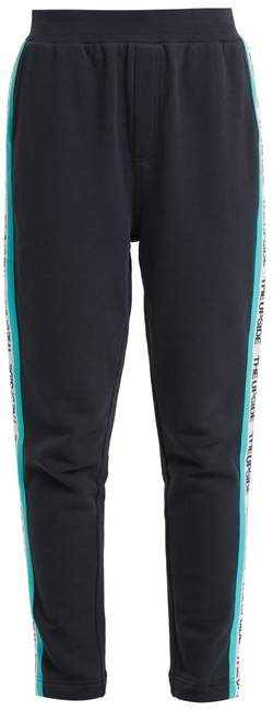 Side-stripe cotton performance track pants