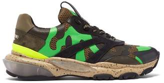 c4de6d7a3 Valentino Bounce Raised Sole Low Top Leather Trainers - Mens - Multi
