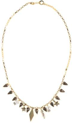 Halo & Co Distressed Crystal And Star Chain Necklace