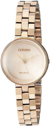 Citizen 25mm Slim Eco-Drive Bracelet Watch, Golden
