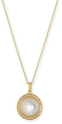 Ippolita 18k Gold Rock Candy Mini Lollipop Diamond Necklace in Mother-of-Pearl