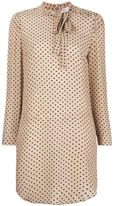 RED Valentino polka dot print longline blouse