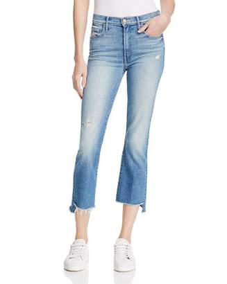 Mother Insider Step Crop Fray Jeans in Shake Well