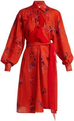 Preen by Thornton Bregazzi Susanna floral-print silk shirtdress