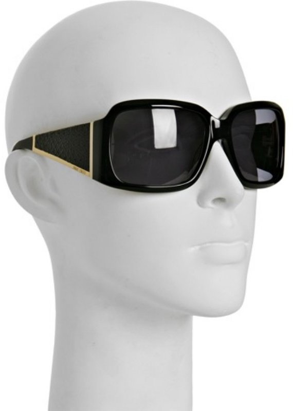 Jimmy Choo black 'Ella' oversized square sunglasses