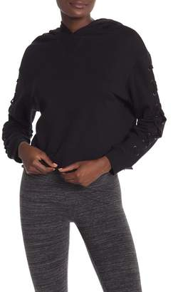 Andrew Marc Hooded Crop Top