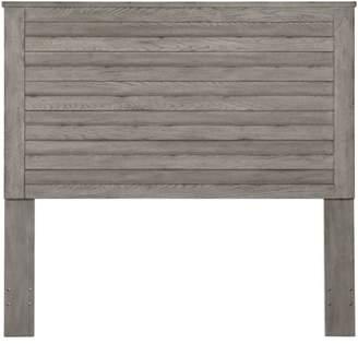 HomeFare Weathered Grey Horizontal Slat Overlay Queen Wood Headboard