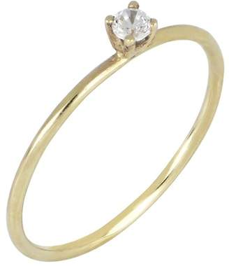 Bony Levy 18K Yellow Gold Single Diamond Ring - 0.05 ctw