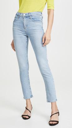 A Gold E Agolde Toni Mid Rise Skinny Jeans