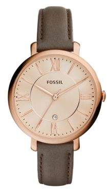 Fossil Jacqueline Chic Three-Hand Leather-Strap Bracelet