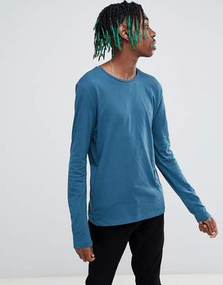 AllSaints T-Shirt In Blue With Logo