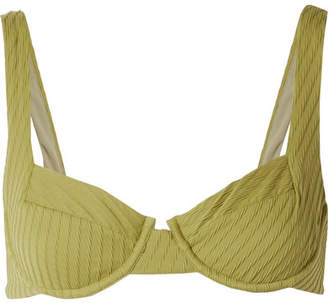 Fella - Casanova Textured Underwired Bikini Top - Sage green